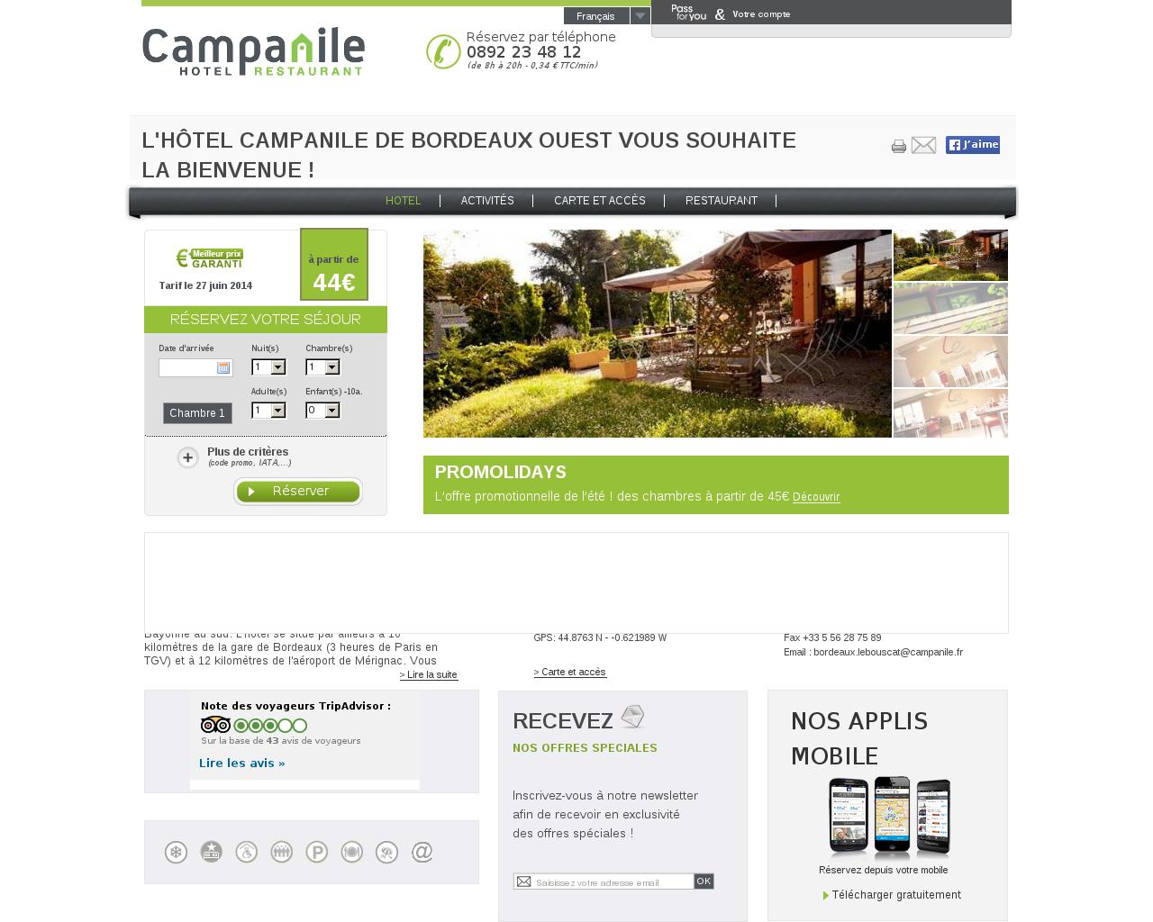 hotels sur la commune de le bouscat. Black Bedroom Furniture Sets. Home Design Ideas